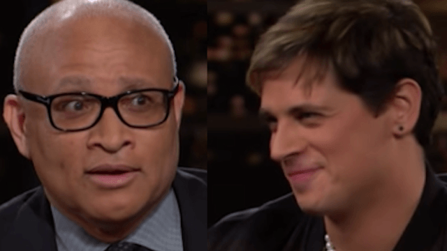 Watch Larry Wilmore tell alt-right troll Milo Yiannopoulos to 'go f**k' himself.