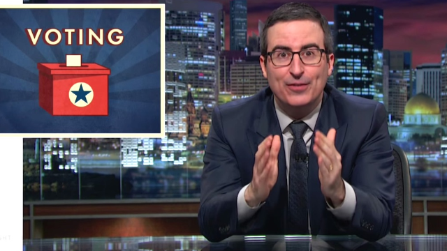 John Oliver returns just in time to explain the wild hypocrisy of voter ID laws.