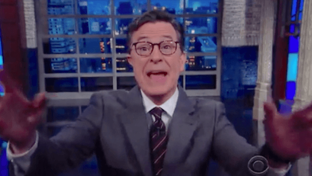 If Donald Trump really has a list of enemies, Stephen Colbert is definitely on it.