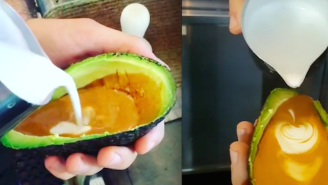 This café is serving lattes in avocados because it's 2017 and nothing matters anymore.