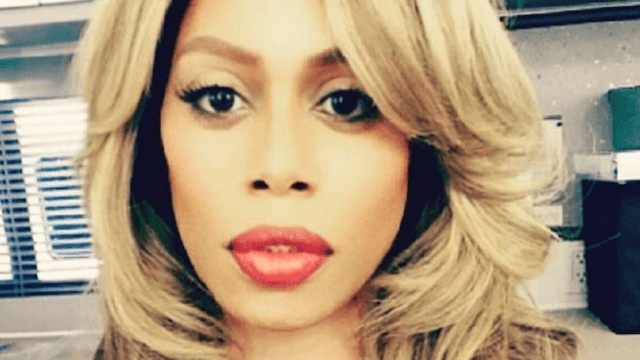 Laverne Cox's nose looked smaller than usual in one picture, so of course people went nuts.