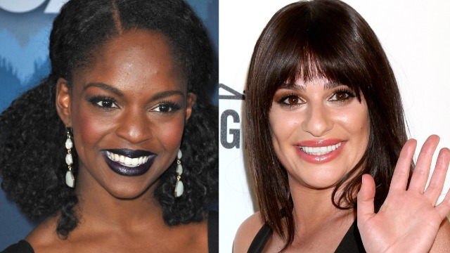 Lea Michele's former 'Glee' co-stars accuse her of racism after protest support tweet.