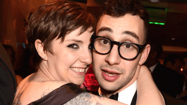 Lena Dunham shows off 'anniversary ring,' teases fans with engagement hopes.