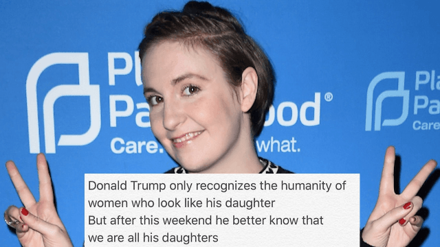 Lena Dunham wrote a poem about the Women's March and people hate it.