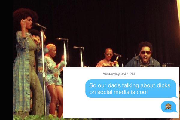 Lenny Kravitz had a dick slip and now his daughter Zoe Kravitz has to deal with it on social media. Gross.