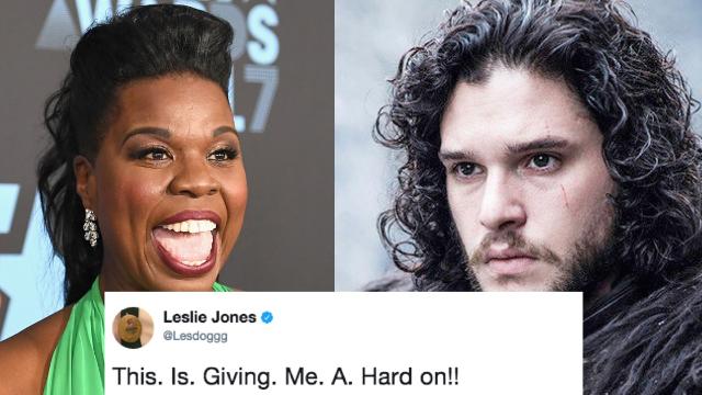 The 42 funniest Leslie Jones 'GoT' tweets to help you laugh through your favorite deaths.