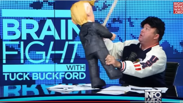 Let's hope Alex Jones attacking a Trump piñata is the weirdest thing you see all day.