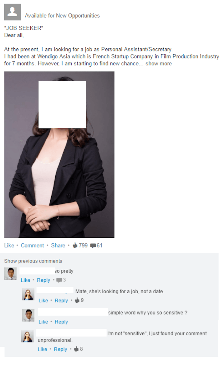 Guy with no chill refuses to accept that LinkedIn is not a hookup app.