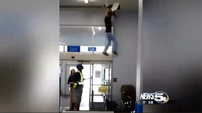 """""""Spiderman"""" Walmart shoplifter heroically escapes through ceiling ducts while security """"runs around frantically."""""""