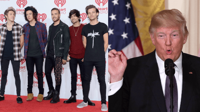 One Direction says Donald Trump once kicked them out of his hotel for refusing to meet his daughter.