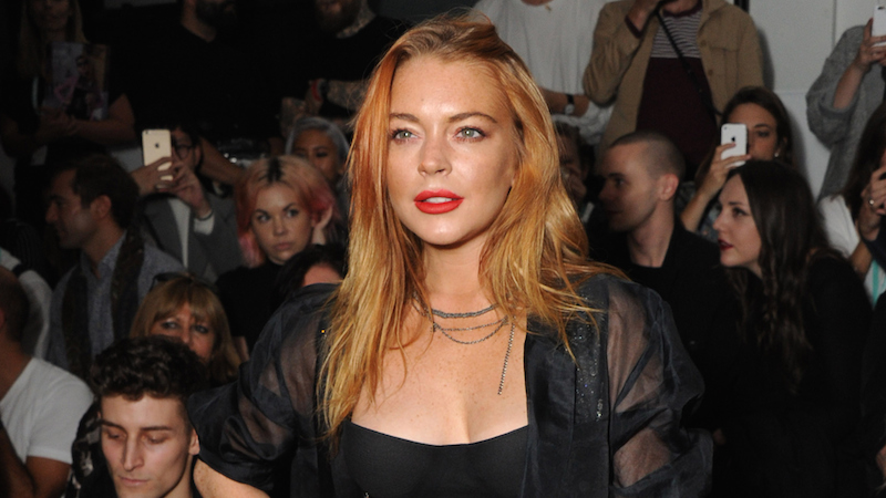 Lindsay Lohan reminds us what day it is.