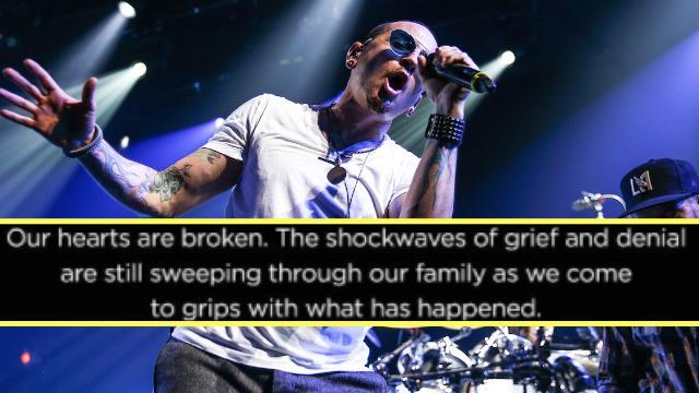 Linkin Park releases devastating statement following suicide of frontman Chester Bennington.