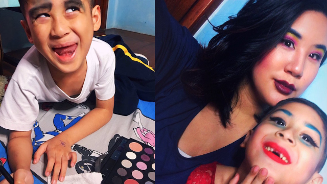 Little boy asks his mom to dress him up like a drag queen and they both absolutely slayed.