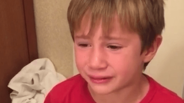 This little boy burst into tears because his brother called him the worst insult imaginable.