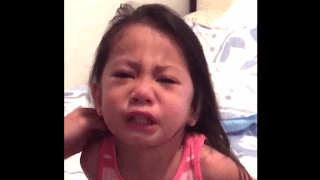 Little girl loses it when she sees her big sister get her period and assumes it's fatal.