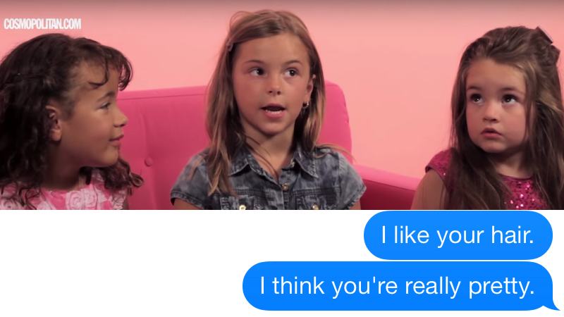 Little girls gave clueless dudes excellent advice for texting women that they should definitely take.