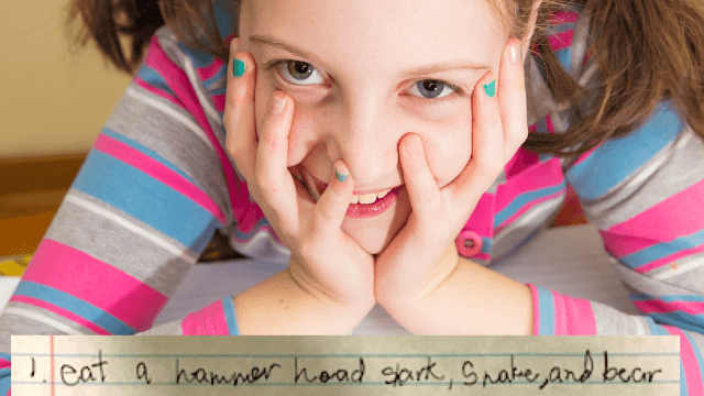 This little girl's hilariously hardcore bucket list will make you question your life.