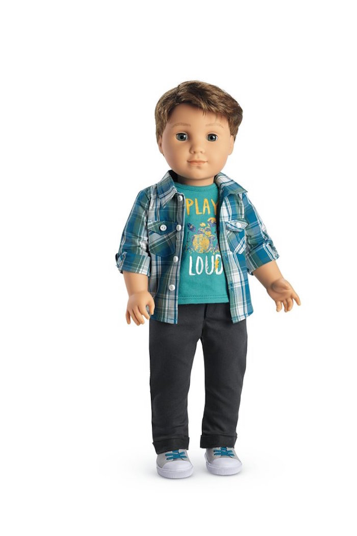 The boy doll, Logan Everett, will be available on Thursday.