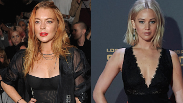 Lindsay Lohan called out Jennifer Lawrence about insensitive puke comments on Twitter.