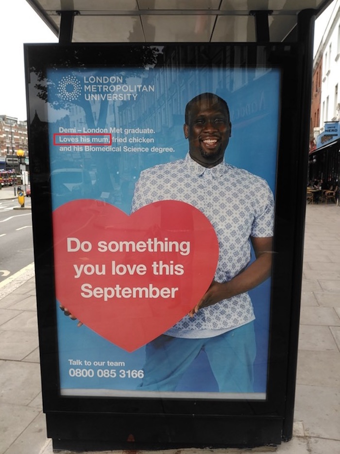 University posts innocent ad, everyone reads it with their minds in the gutter.