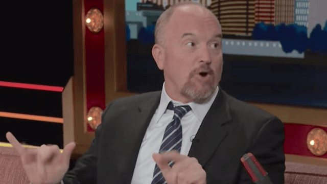 Louis C.K. tells Conan O'Brien he's voting for 'tough bitch' Hillary Clinton.