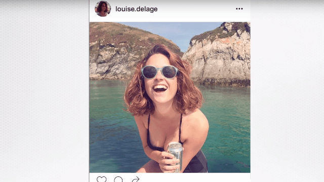 Instagram-famous Frenchwoman was secretly making a PSA about drinking.