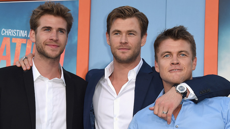 Luke Hemsworth mocked his brother's enormous muscles on Instagram, because they're insane.