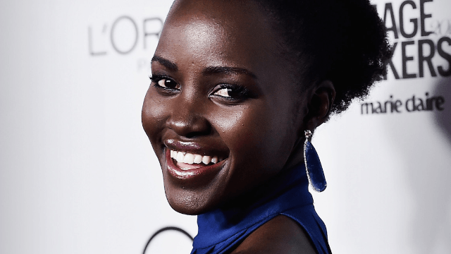 Lupita Nyong'o loved meeting Beyoncé, even if her drunk friend made the pic blurry.