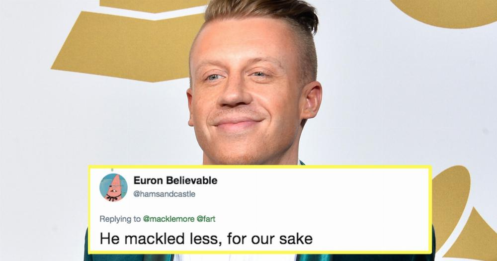 Macklemore Got A New Haircut And He Promises Twitter This One Isnt
