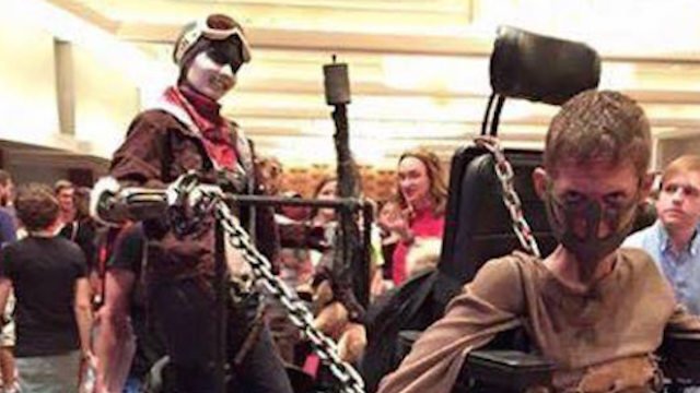 Disabled guy's Mad Max cosplay will dwell in Valhalla for its shiny chrome greatness.