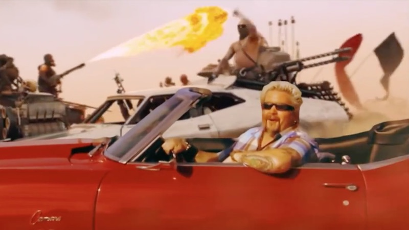 This 'Mad Max'/Guy Fieri mashup is the only 40 seconds of Guy Fieri worth watching.
