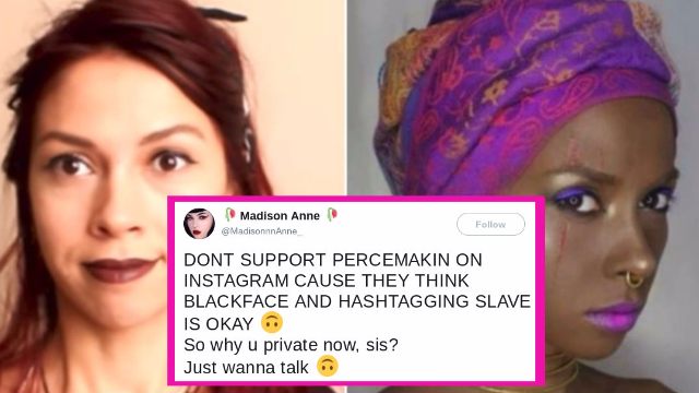 Makeup artist does blackface when she 'can't find a black model.' The internet is not here for it.