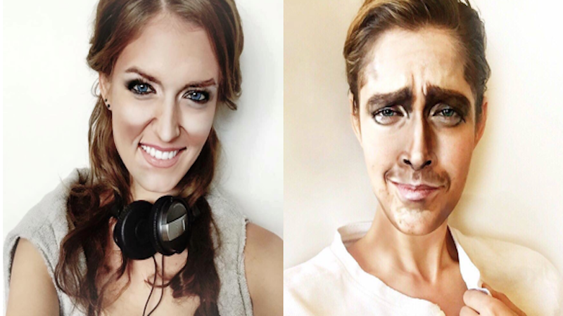 This professional makeup artist can transform herself into any celebrity, male or female.