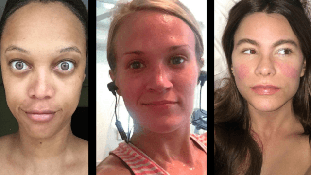 22 makeup-free selfies from celebs who are obviously better than us.