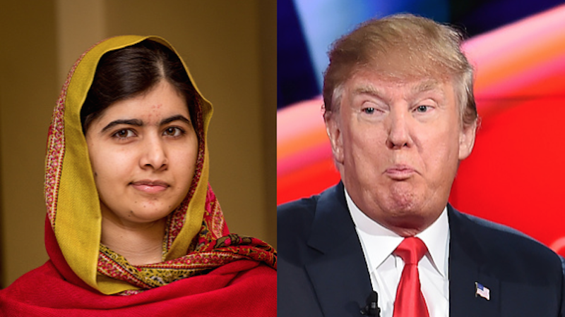 Malala brilliantly slams Trump, should get a second Nobel Peace Prize.