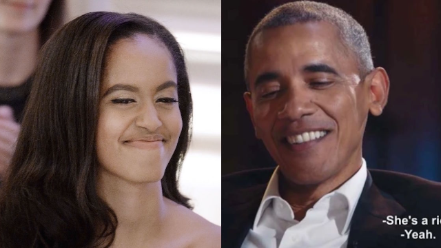 Malia Obama burned David Letterman so hard and her dad is proud.