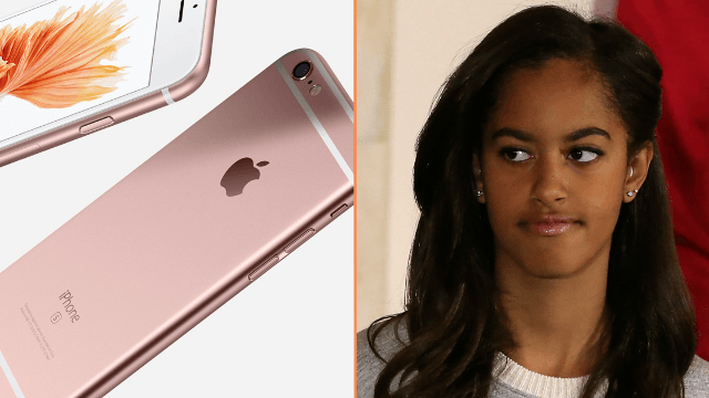 Malia Obama had trouble replacing her lost iPhone because she's American royalty.