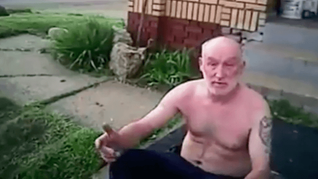 Drunk, shirtless genius picks worst possible people to help him find his weed.