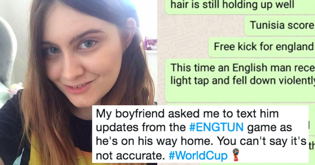 Guy Asks His Girlfriend To Text Him World Cup Updates She Went
