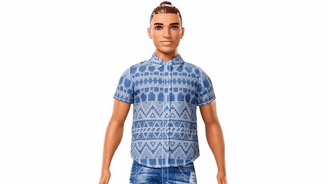 The Ken doll got a man bun and Twitter exploded.