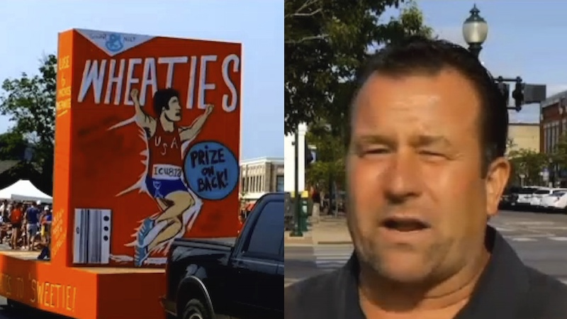Man creates bizarre 4th of July parade float to mock Caitlyn Jenner, offends entire town.