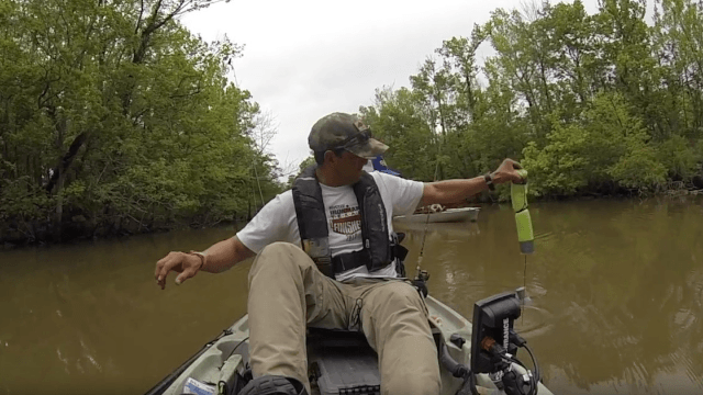 This guy fishing with his daughter thought he had caught a catfish. Then he wished he had caught a catfish.
