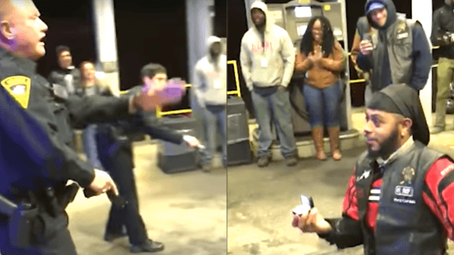 Guy stages fake police brutality incident to propose to his girlfriend. Romantic!