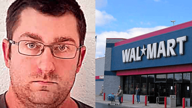 Creepy dude uses syringe to squirt his semen at women in Walmart.