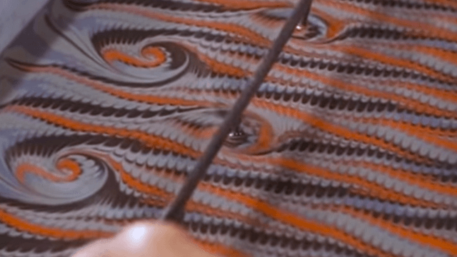 The fascinating, gorgeous process of making marbled paper also makes for a super satisfying video.