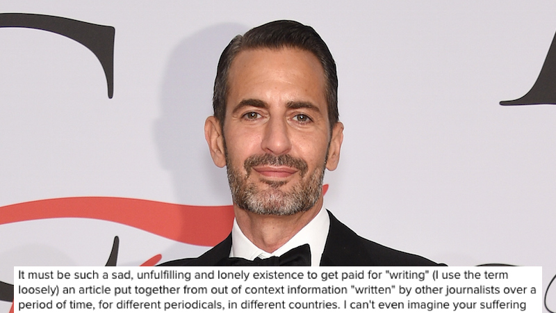 Marc Jacobs takes to Instagram to unload on a reporter who criticized his love of orgies.