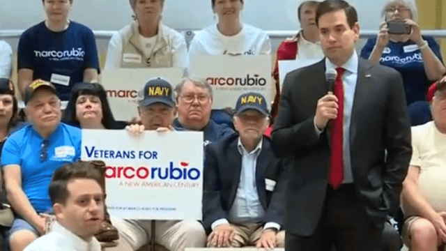 Marco Rubio delivers best line of his campaign after heckler claims 'Marco Rubio is trying to steal my girlfriend.'