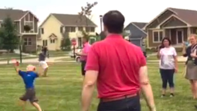 Marco Rubio impresses Iowa voters with ability to nail kids in the face with footballs.