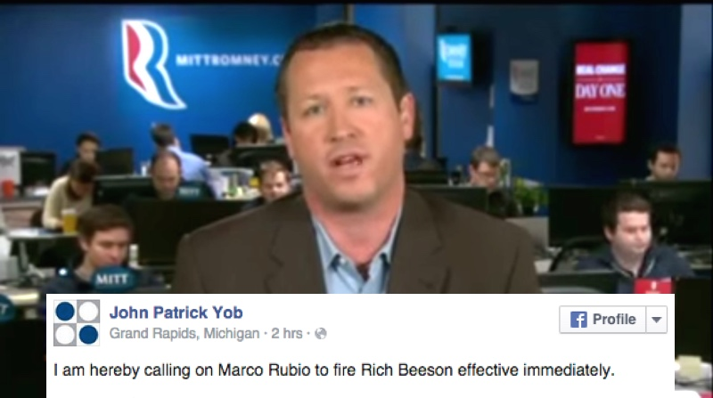 Marco Rubio's campaign manager may have just punched a dude and run from police.