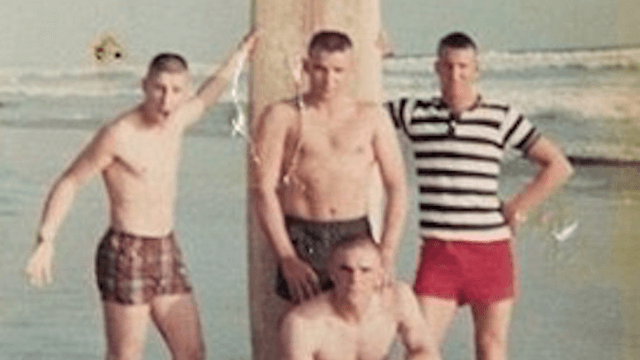 Marines recreate beach photo 50 years later, still look decent without their shirts on.